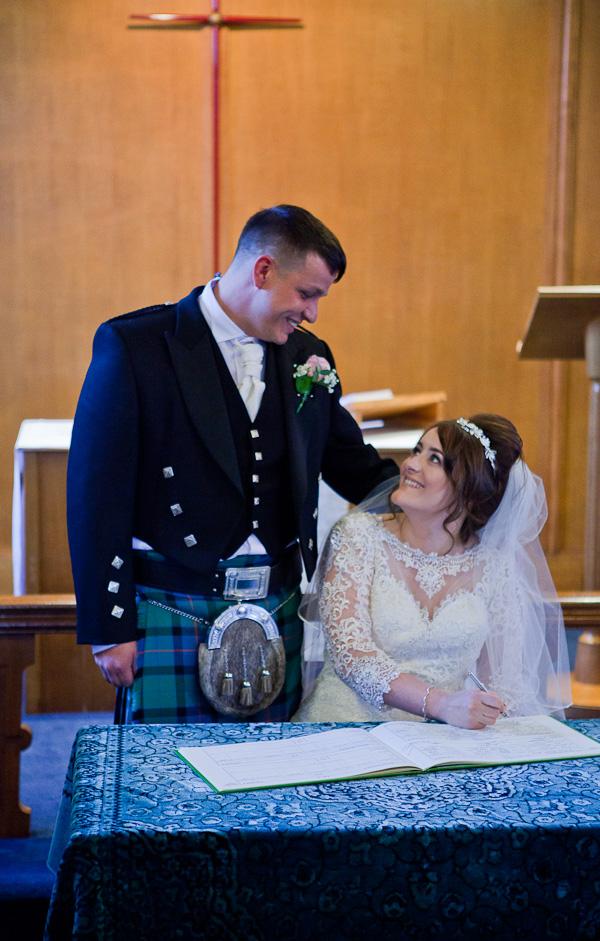 bride and groom preston wedding