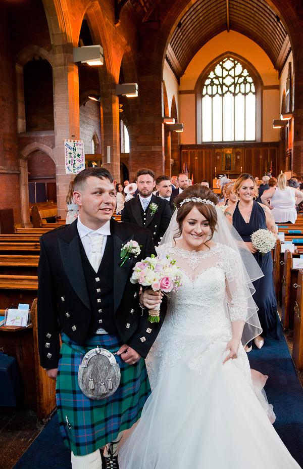 wedding at saint aiden church preston