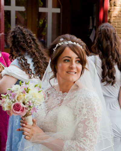 bride at saint aidens parish preston