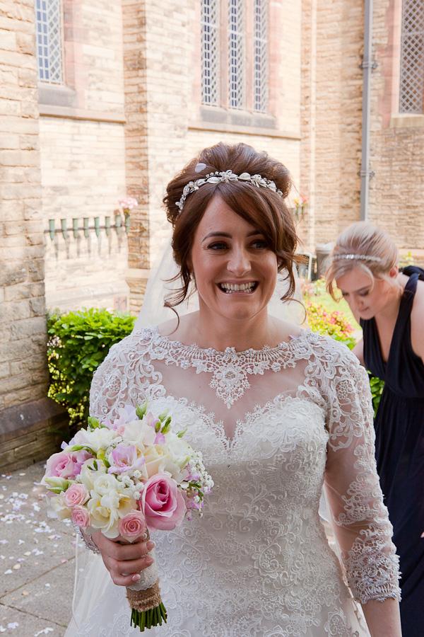 bride at church preston