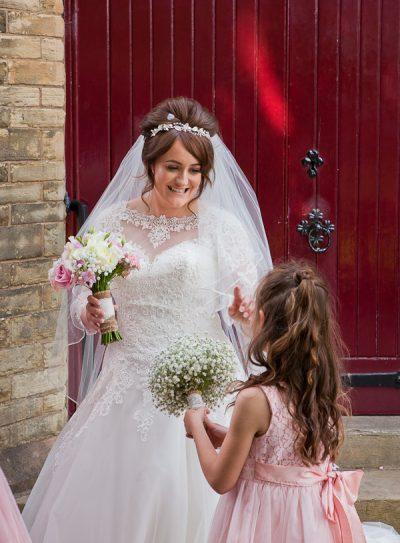 bride at saint aidens church preston