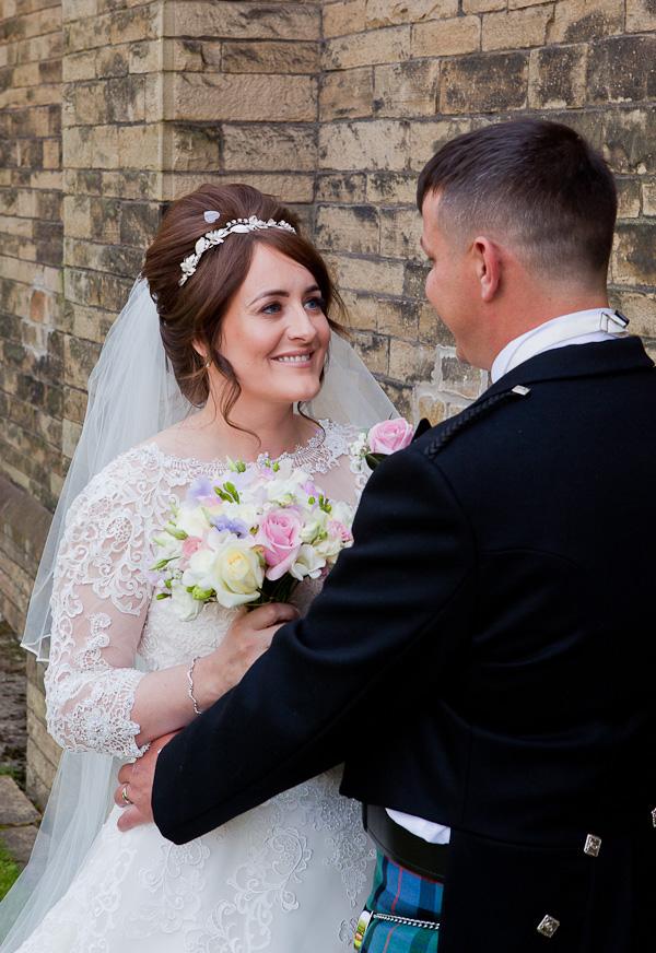 bride and groom at preston wedding