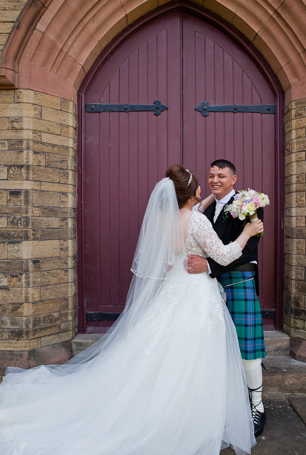 bride and groom lancashire church