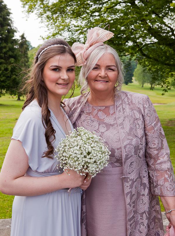 wedding guests at shaw hill lancashire