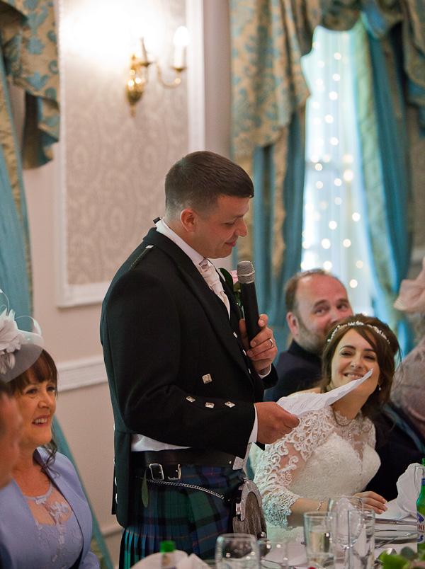 wedding speech at shaw hill lancashire
