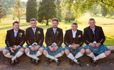 groomsmen at shaw hill lancashire