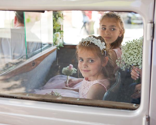 flowergirls at saint aidens parish preston