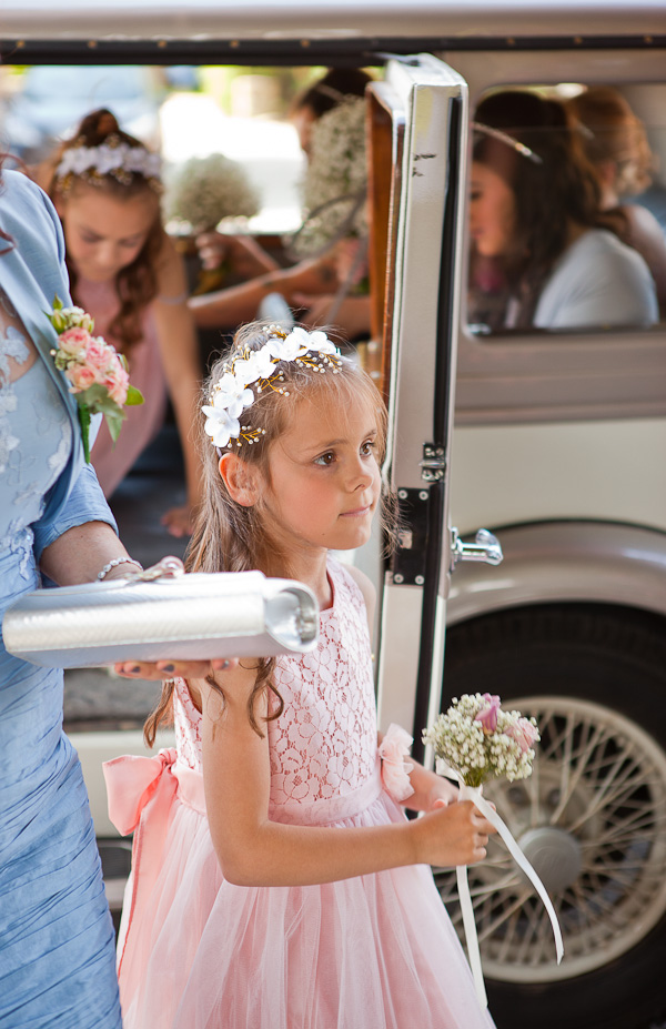 flowergirl at lancashire wedding