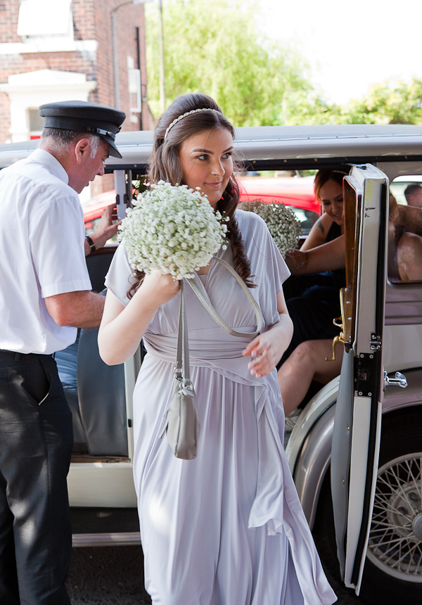 bridesmaid at wedding lancashire