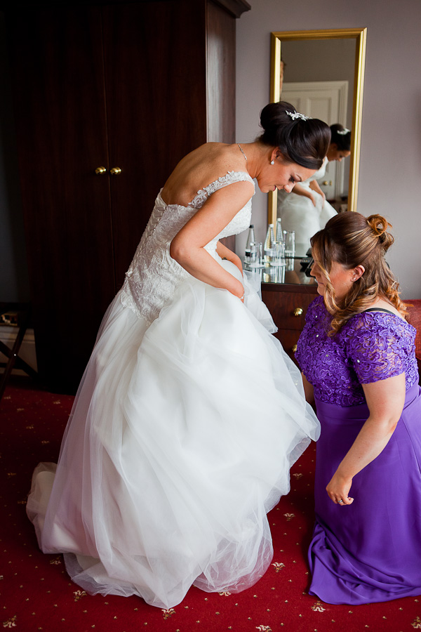 bridal preparations at farington lodge lancashire
