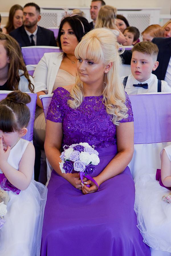 wedding guest at farington lodge lancashire