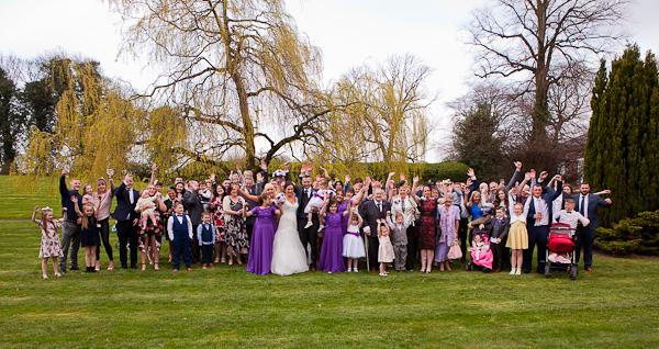 wedding photographs at farington lodge lancashire