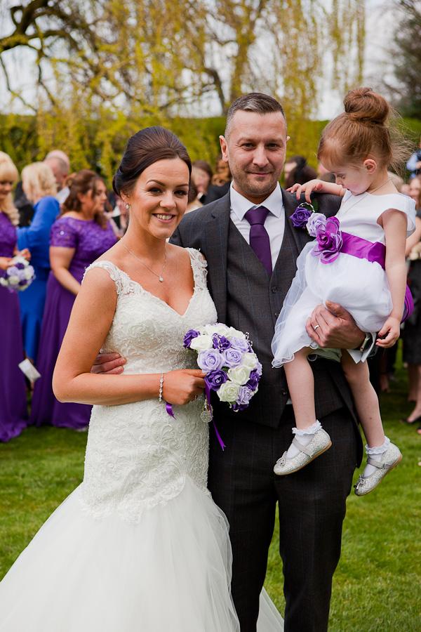 bridal party at farington lodge lancashire