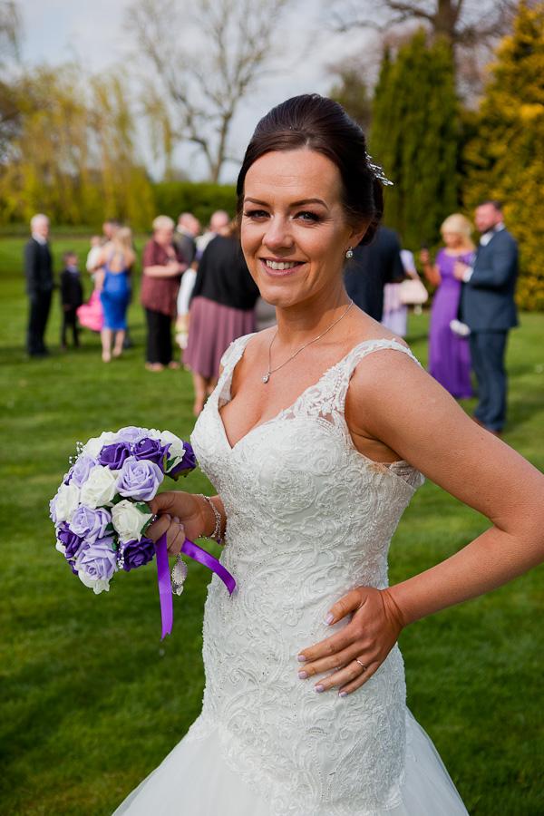 bride photograph at farington lodge lancashire