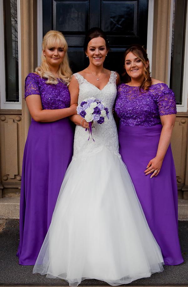 bridesmaids photo at farington lodge lancashire