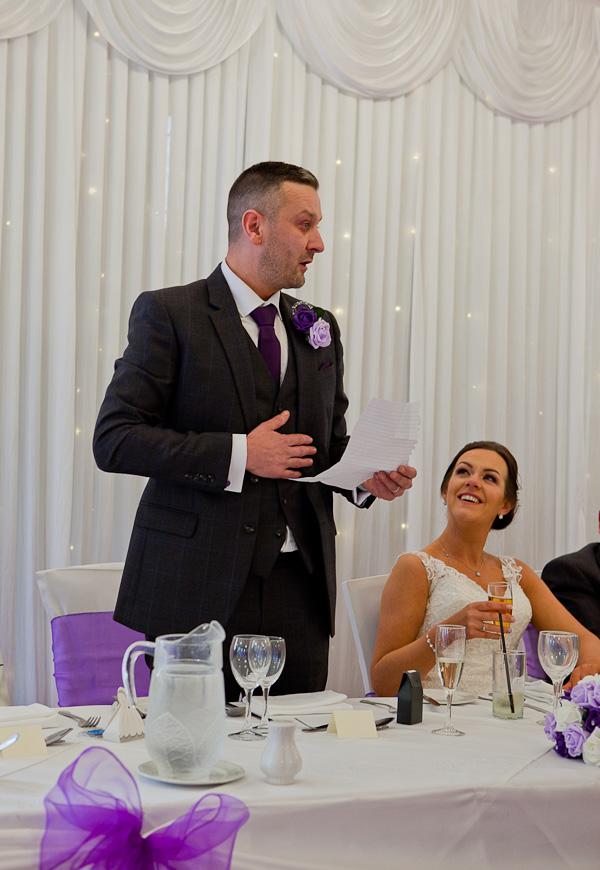 groom speech at farington lodge lancashire
