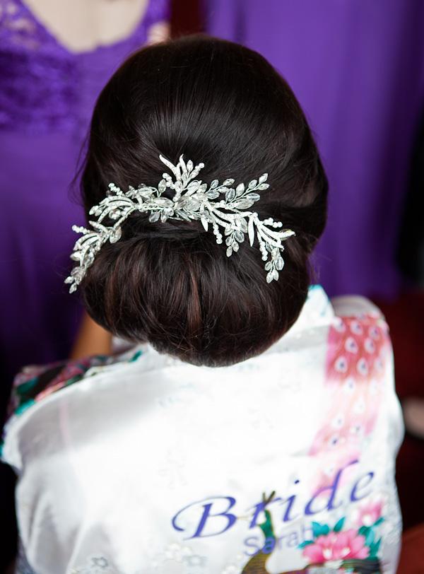 brides hair at farington lodge lancashire